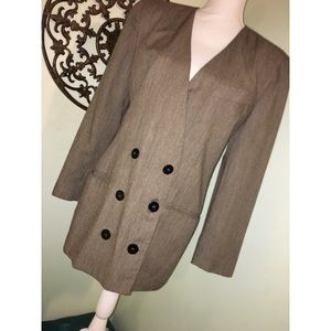 Vintage Christian Dior Separates Brown blazer